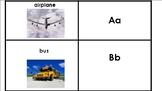 Transporation Alphabet Flashcards