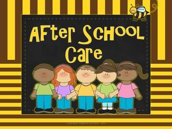 Transporation Chart (Bee Themed) Back To School Organization