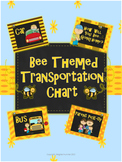 Transporation Chart (Bee Themed) Back To School Organization