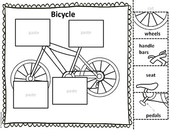 Transportation - Puzzle Parts and Labeling Activities (Set of 9)