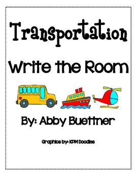 Transporation Vehicles Write the Room Literacy Center