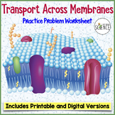 Cell Membrane Transport Worksheet (Osmosis, Diffusion)