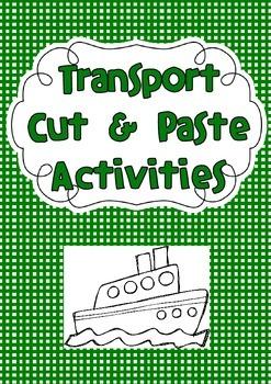 Transport Cut & Paste Activites