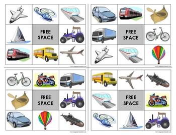 Transport Bingo