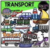 Transport Clip Art Bundle {Educlips Clipart}
