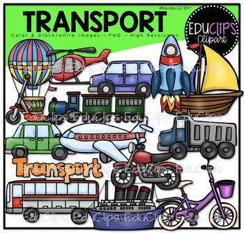Transport Clip Art Bundle {Educlips Clipart}