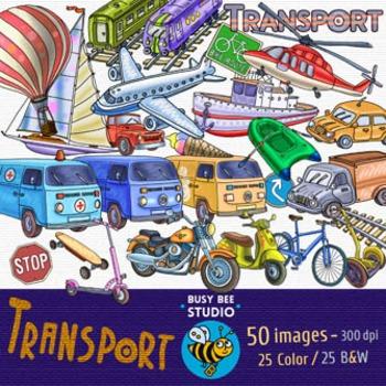 Transport Clip Art Bundle