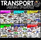 Transport Clip Art Mega Bundle {Educlips Clipart}