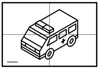 Transport Collaborative Art Project, Coloring Pages, Elementary Art
