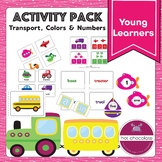 Color and Number Activity Pack - Sentence Building Train