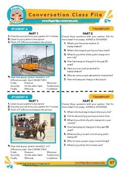 Transport - ESL Speaking Activity