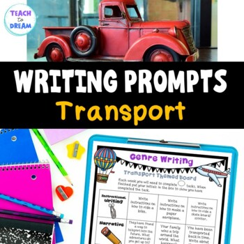 Transport Theme Writing Choice Board: Recount, Persuasive, Narrative, Genres