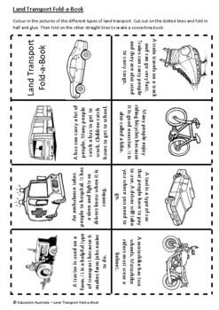 Transport - Land Transport Fold-a-Book - Craft - HSIE