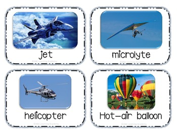 Transport Lesson Plan and Materials