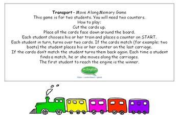 Transport - Memory Board Game