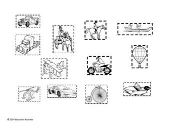 Transport - Old and New Transport Types - Venn Diagram Activity
