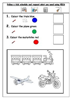 Autism - Transport workbook