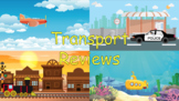 Transport Reviews - 4 fun mini review templates for the cl