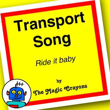 English Transport Song 1 for ESL, EFL, Kindergarten. Train, car, bus, bicycle