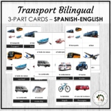 El transporte - Transport Spanish Bilingual Vocabulary 3 P