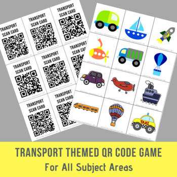 Transport Themed Open Ended QR Code Game - For All Subject Areas