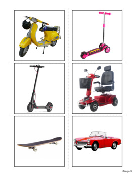 Transportation Vocabulary Photo Flashcards for Special Education and ESL