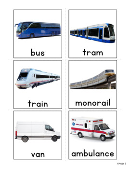 Transportation Cards for Special Education and ESL