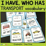 Transport Vocabulary - I Have Who Has Game