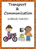 Transport and Communication- Worksheets for Grade 3 & 4