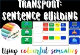 Transport sentence building - writing using Colourful (col