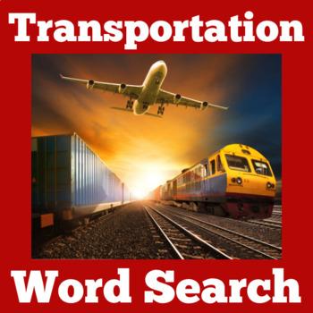 Transportation Activity | Transportation Unit | Transportation Word Search