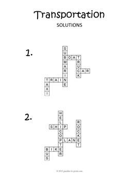 Transportation Words Puzzle Bundle