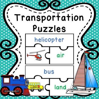 Modes of Transportation Sort Puzzles