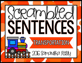 Transportation Scrambled Sentence Station