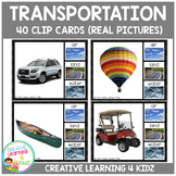 Transportation Clip Cards (Real Pictures)
