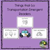 Transportation: 3 emergent readers! (Things that Go)