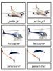 Transportation 3-part cards bundle--Land, Water, Air
