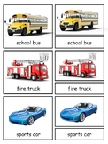 Transportation 3-part cards bundle--Land, Water, Air