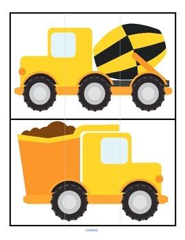 Transportation 3 Piece Puzzles