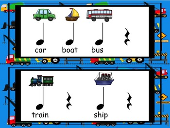 Transportation - A Rhythmic Ostinato Activity to Practice the Quarter Rest