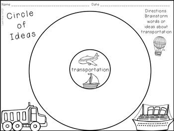 Transportation  A-Z Book Writing Activity
