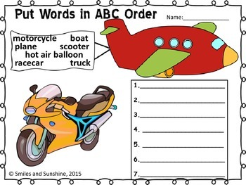 Transportation ABC Order