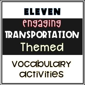 Preschool Transportation Activities