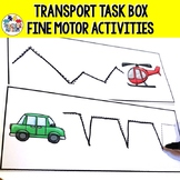Transportation Activities Fine Motor Skill Task Cards