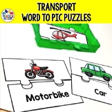 Transportation Activities Matching Words to Pictures