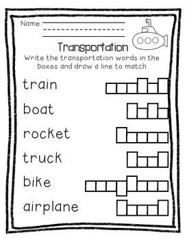 Transportation Activity Pack