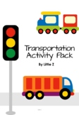 Print and Go Pre K Transportation Activity Pack