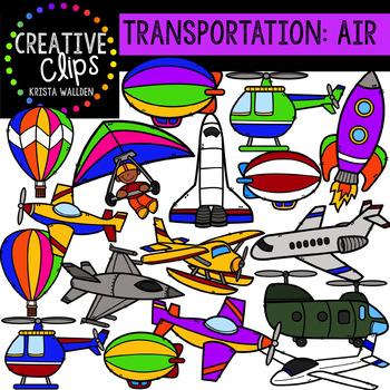 Transportation: Air {Creative Clips Clipart}