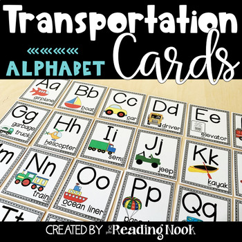 Transportation Alphabet Cards