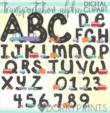 Transportation Alphabet Clip Art
